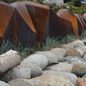 Modern Sculptural Seawall by Paul Sangha Landscape Breaks Waves and Boundaries