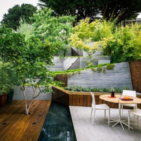 Multi Layered Japanese Style Garden and Sitting Area