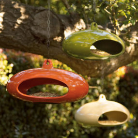 Beautiful, contemporary bird feeder from Neiman Marcus