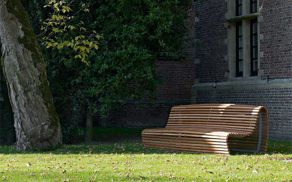 outdoor bench seating modern outdoor wood bench by b b italia. Black Bedroom Furniture Sets. Home Design Ideas