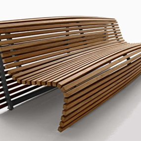 Outdoor Bench Seating – modern outdoor wood bench by B&B Italia