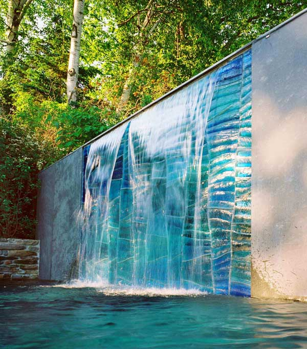 view in gallery outdoor glass art swon design 2jpg - Waterfall Design Ideas