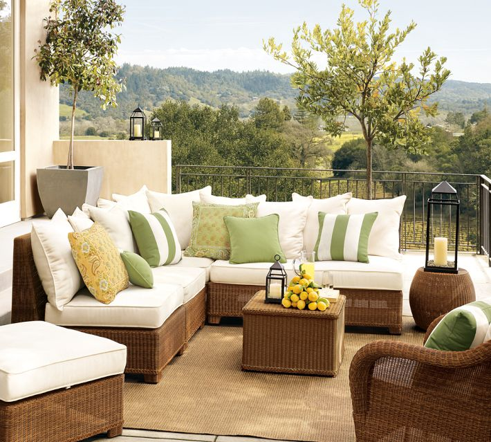 Superb View In Gallery Palmetto All Weather Wicker Sectional By Pottery Barn