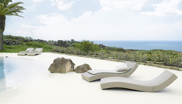 paola lenti outdoor lounge wave 1 Luxury Outdoor Lounger from Paola Lenti   Wave