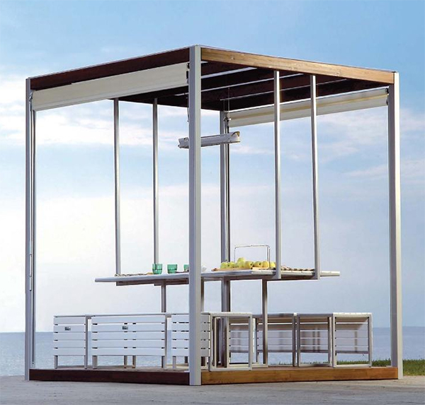 pircher gazebo canopies kuba 1 Gazebo Canopies   Kuba modern gazebo design by Pircher