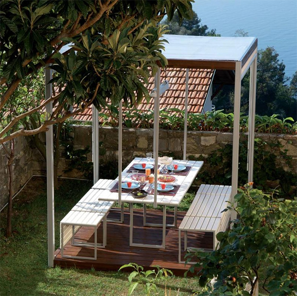pircher gazebo canopies kuba 2 Gazebo Canopies   Kuba modern gazebo design by Pircher