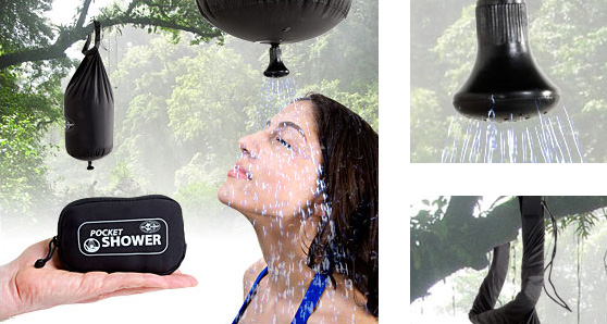 Pocket Shower for Outdoors