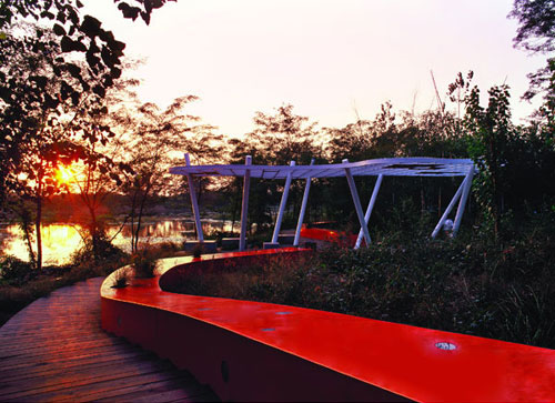 red ribbon tanghe river park china 1 Red Ribbon Tanghe River Park in China   eco friendly landscape architecture