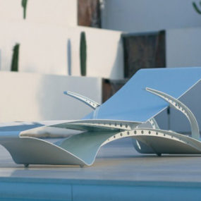 Aluminium Sun Lounger D-Lux by Royal Botania