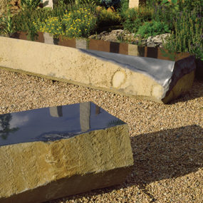 Basalt Slab Benches from Stone Forest – new landscape sculpture collection