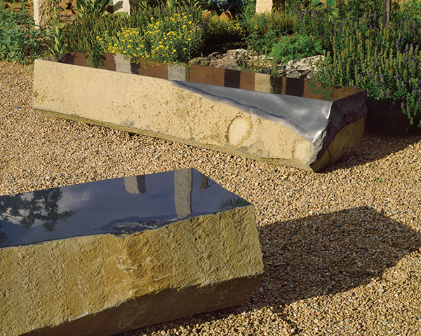 stone forest basalt benches Basalt Slab Benches from Stone Forest   new landscape sculpture collection