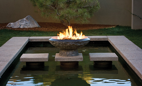 stone forest helios fire 1 Granite Fire Pit from Stone Forest   new fire vessels and fire bowls collection