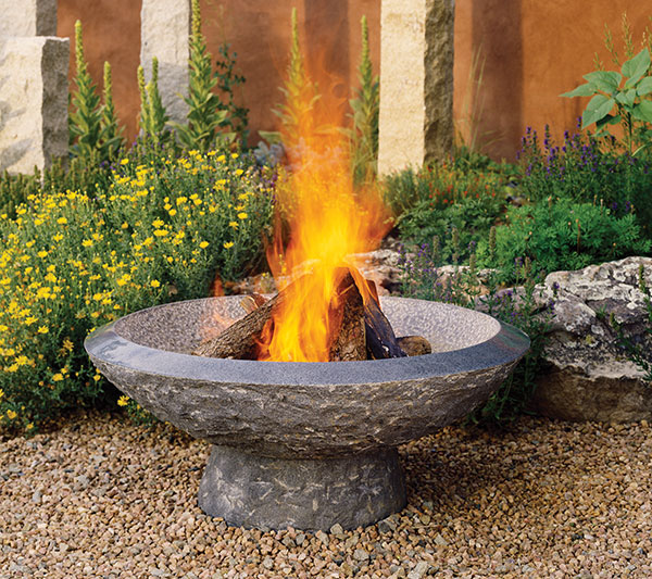 stone forest helos fire 2 Granite Fire Pit from Stone Forest   new fire vessels and fire bowls collection