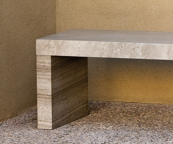 stone forest sienna bench 1 Contemporary Garden Stone Benches from Stone Forest