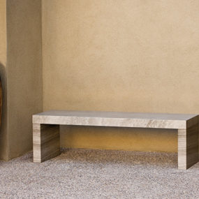 Contemporary Garden Stone Benches from Stone Forest