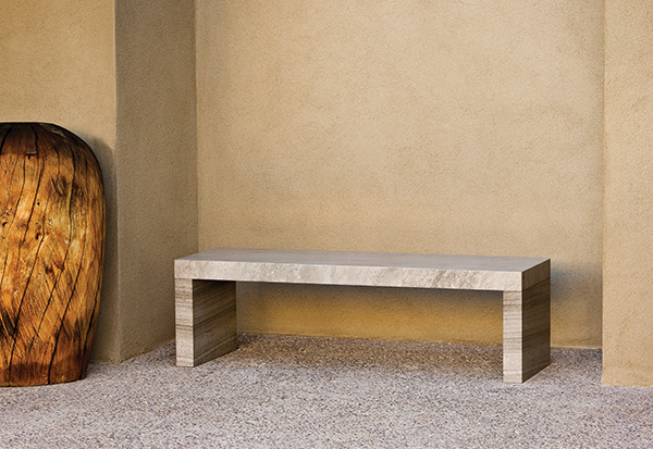 stone forest sienna bench Contemporary Garden Stone Benches from Stone Forest