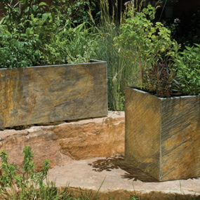 Slate Planters from Stone Forest – outdoor planter collection