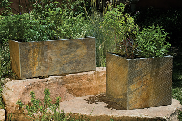 stone forest slate planters Slate Planters from Stone Forest   outdoor planter collection
