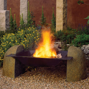 Suspended Fire Pit from Stone Forest – new fire vessel
