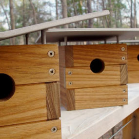 Modern Birdhouses by Wieler – sustainably harvested teak