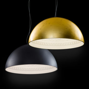 Oversized Pendant Lamp Chiarodì by Metal Lux