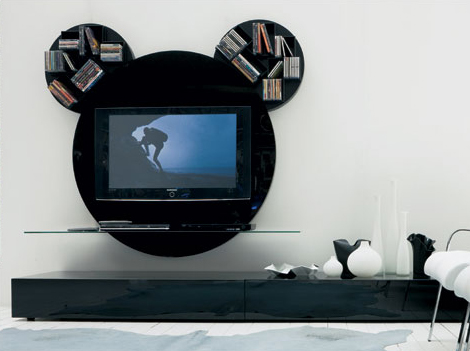 paciniecappellini tv stand mickey mouse 1 Modern TV Stand by Pacini Cappellini   Mickey Mouse