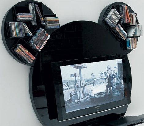 paciniecappellini tv stand mickey mouse 2 Modern TV Stand by Pacini Cappellini   Mickey Mouse