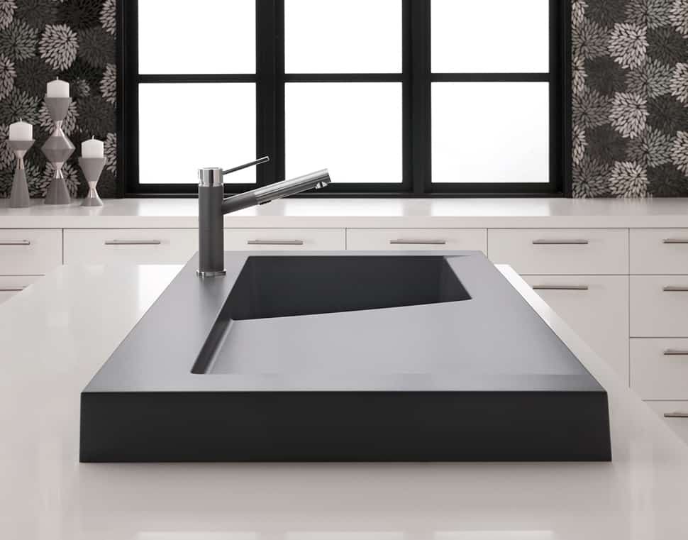 Lovely Raised Kitchen Sink Workstation With Dual Draining U2013 Modex By Blanco