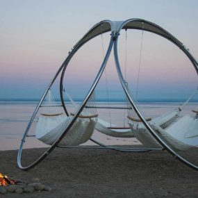 Suspended Hammock Set With Table By Trinity
