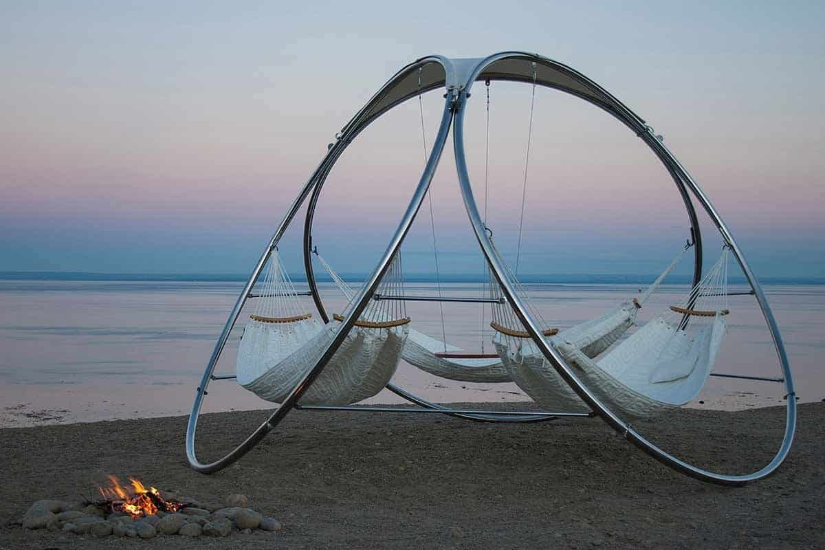 suspended hammock set with table by trinity  rh   trendir