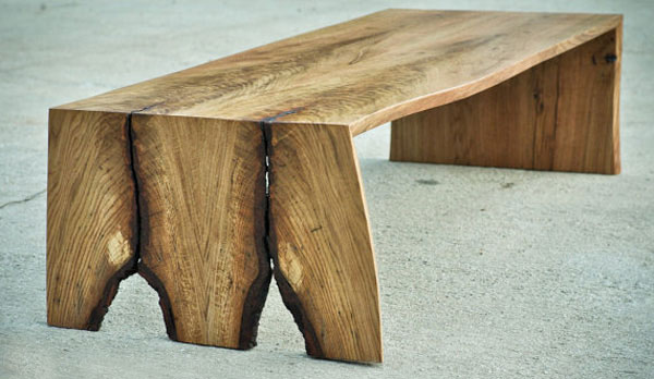 5 fabulous rustic wood slab coffee tables 1 5 Fabulous Rustic Wood Slab Coffee Tables
