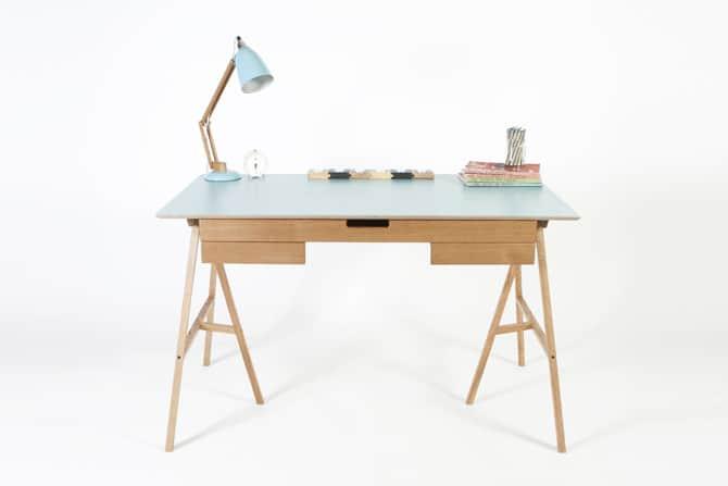View In Gallery Trestle Desk Ideas Hot Trend 3 Plan Light