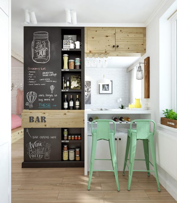 2s chalkboard kitchen Chalkboard Wall Trend Comes to Modern Homes: 38 Inspirational Ideas