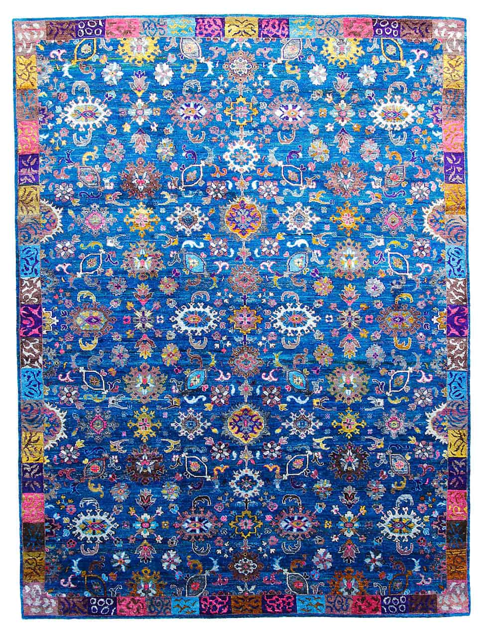 rug living teal rooms santorini gorgeous area sari in most rugs accent silk for room india modern colorful dramatic
