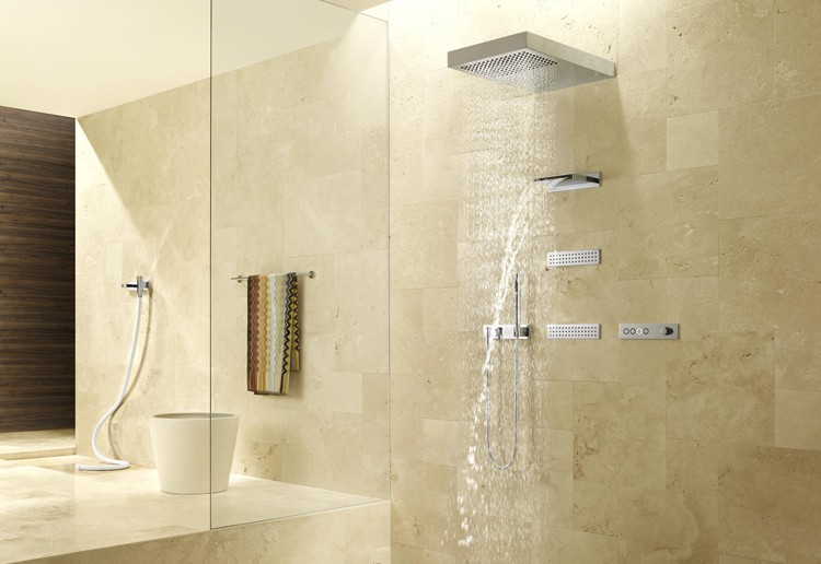 walls master gorgeous bathroom pinterest ideas wall on showers best shower