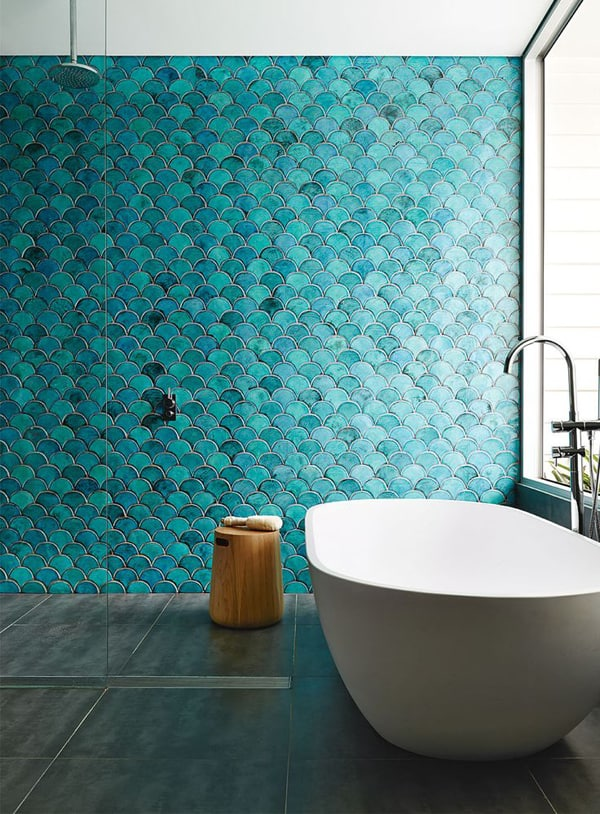 modern bathroom tile. View in gallery fish scale tiles jpg Top 10 Tile Design Ideas for a Modern Bathroom 2015