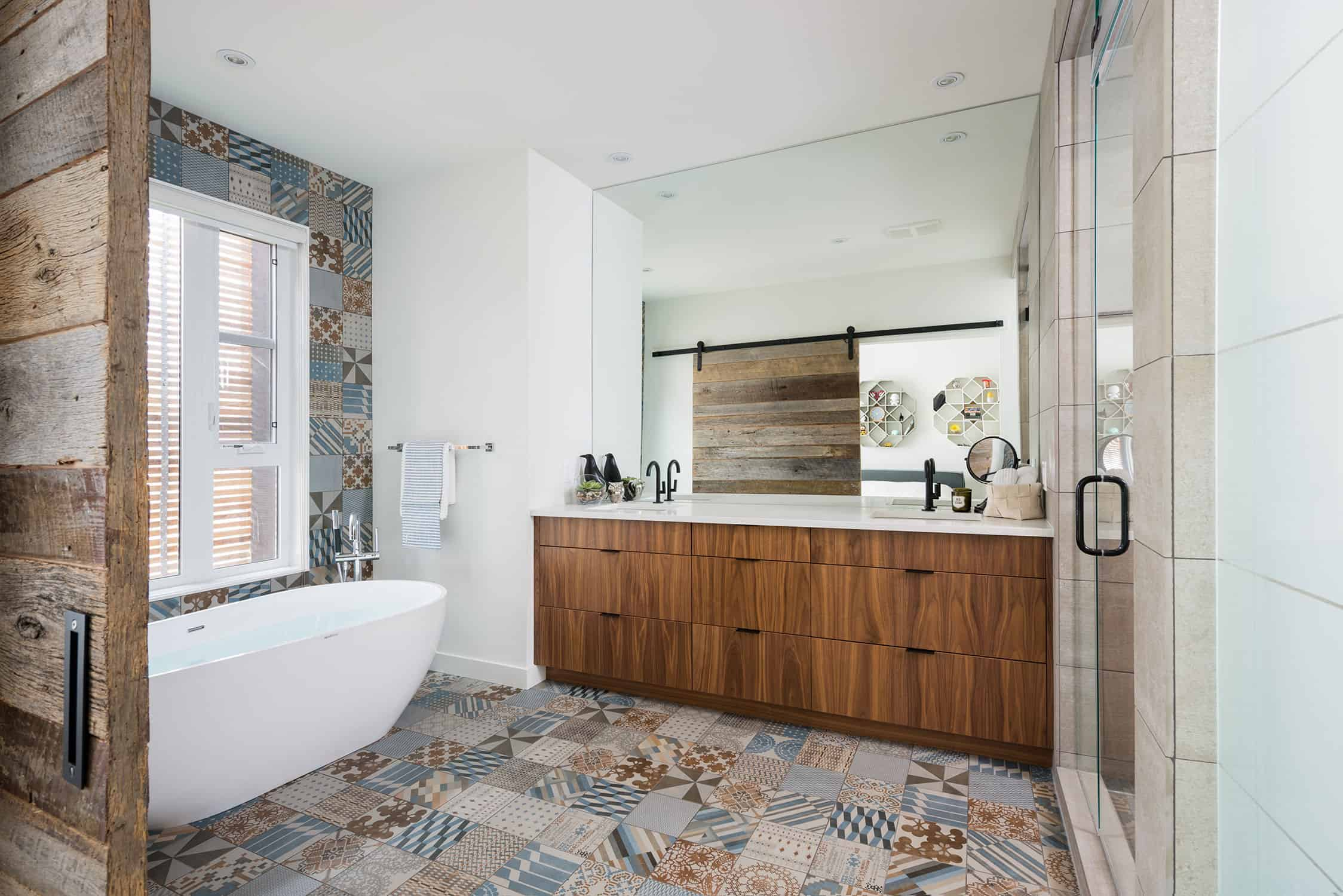 recycled wood matching tile 2