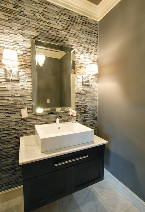 Top 10 tile design ideas for a modern bathroom for 2015 for Latest small bathroom designs