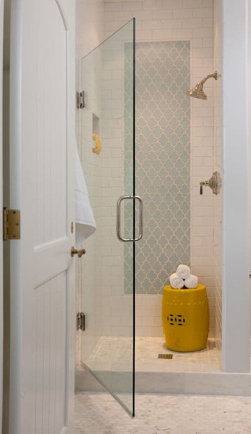 view in gallery morocan tile shower nichejpg via my design chic