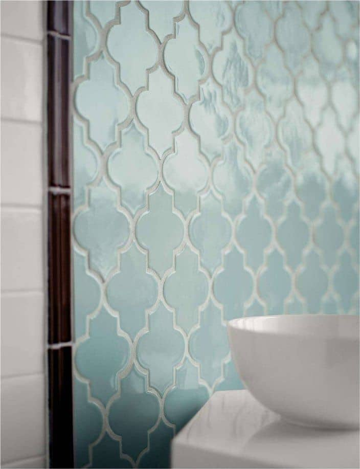View In Gallery Arabesque Tile Light Turquoise
