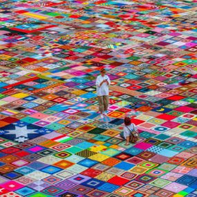 This Crochet Granny Squares Blanket is the Largest in the World, for now!