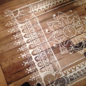 top 10 stencil and painted rug ideas for wood floors - Wood Floor Design Ideas
