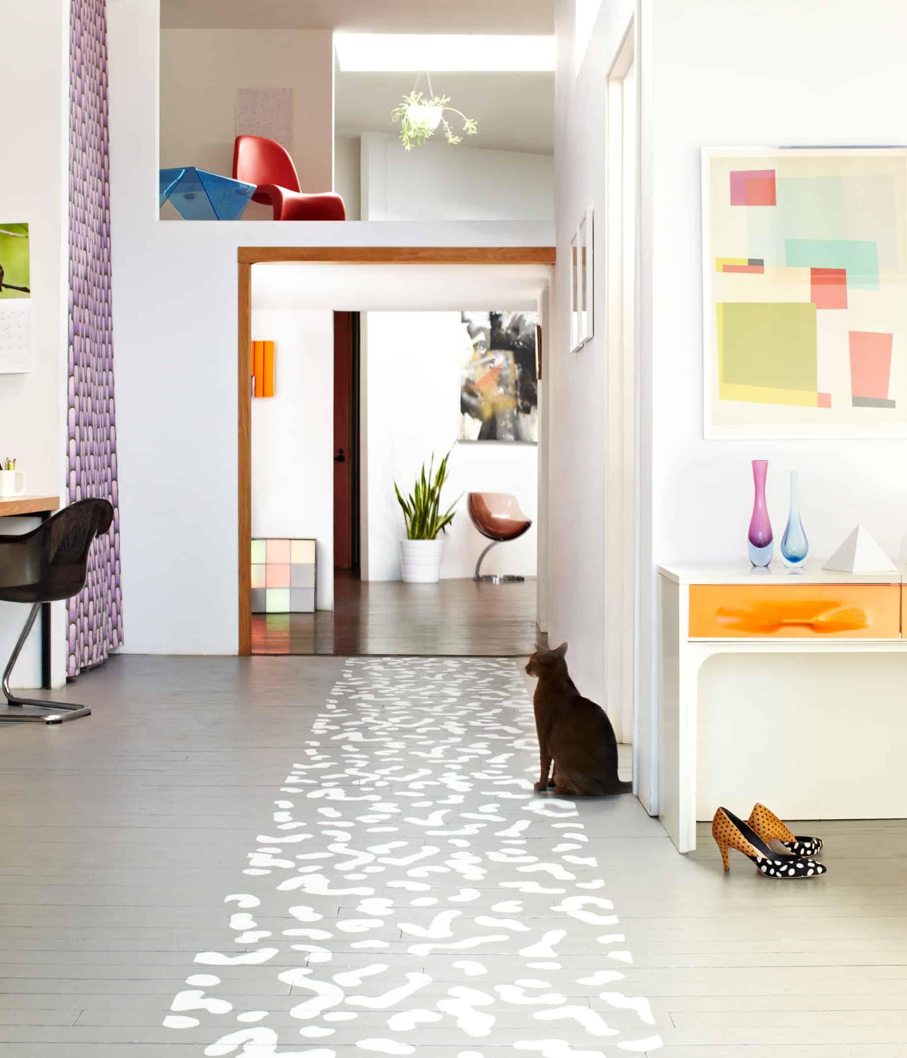 painted floor runner rug