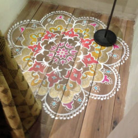 Mix And Match Patterns Geometric Shapes Color Or Monochrome Designs Can Be Accomplished With Stencils When Painting Rugs On Decks Decorating Your