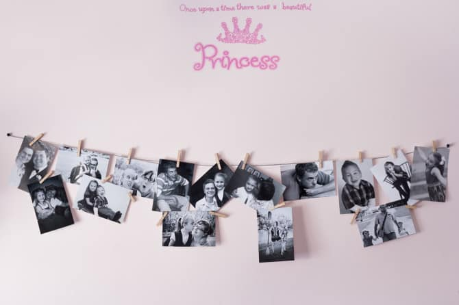 Photo wall collage without frames 17 layout ideas view in gallery simplest diy string photo wall displayg solutioingenieria