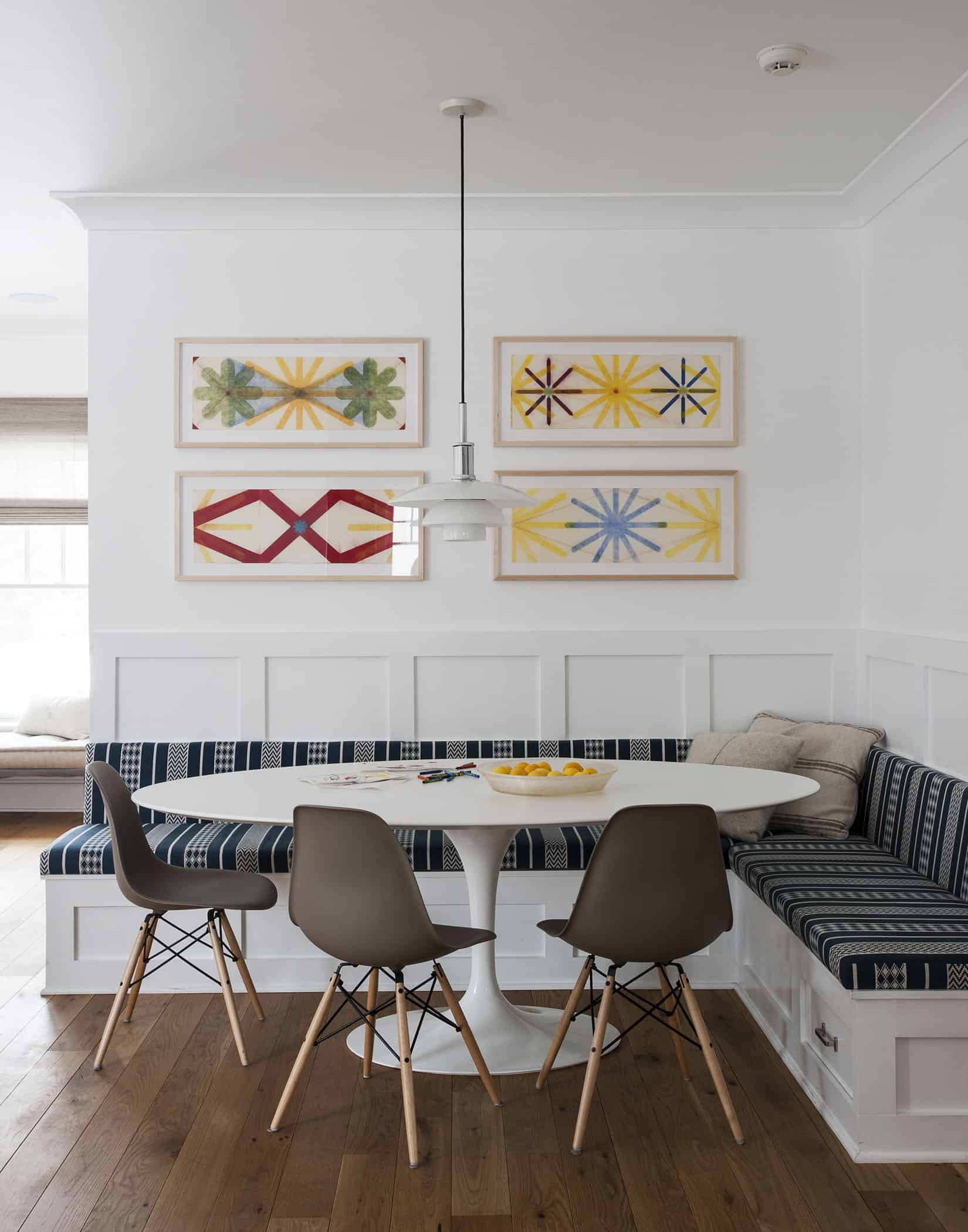 corner breakfast nook by indi interiors