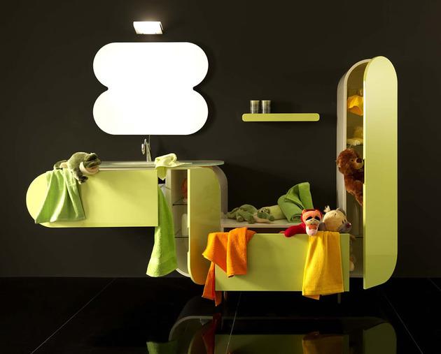lasa bathroom furniture set thumb 630x507 9254 5 Awesome Kids Bathroom Sinks