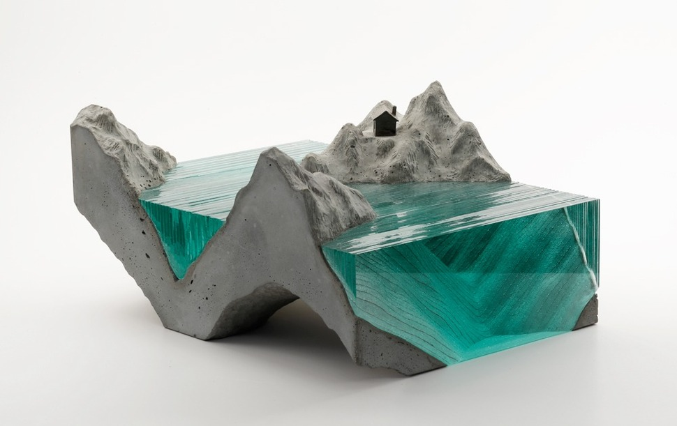 Artsy Tables To WOW You - Concrete and glass coffee table