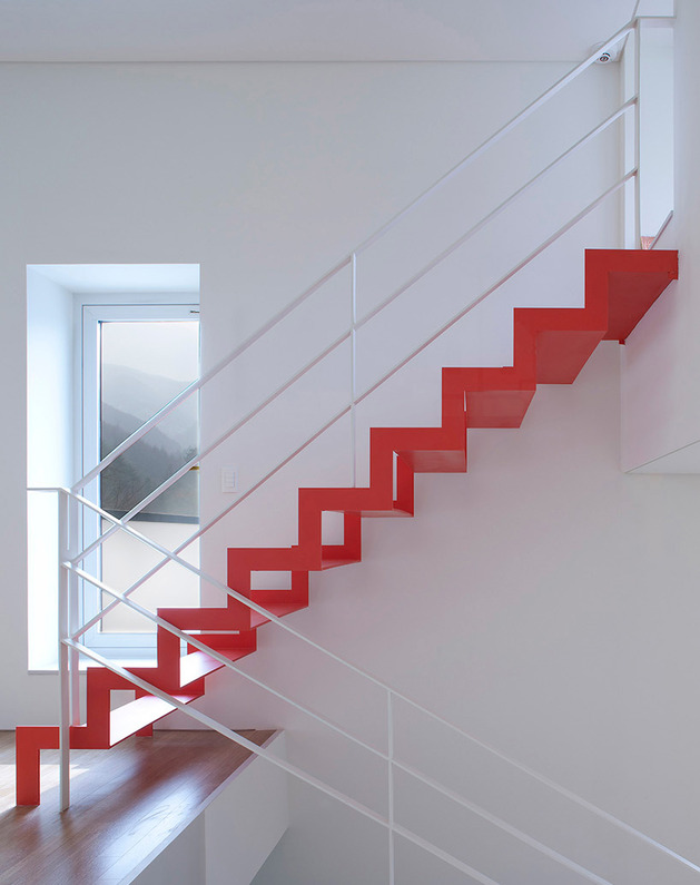 unusual home design red stair 2 thumb autox795 50055 10 Unusual Home Design Finds