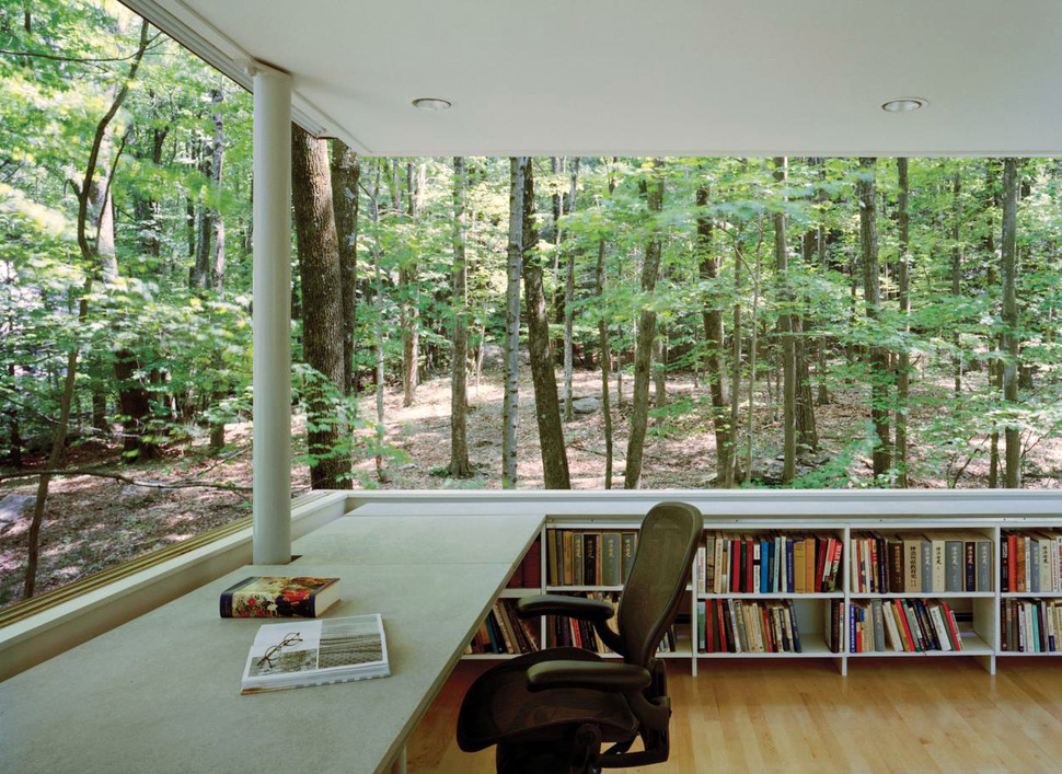 Resultado de imagem para office by the forest